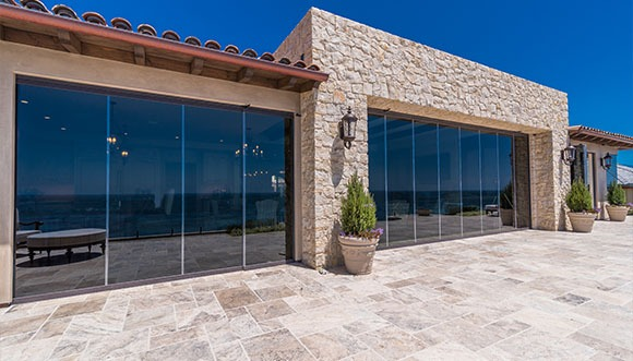 low e sliding frameless glass